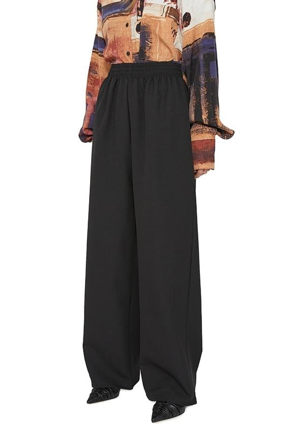 Lovey wrap skirt banding wide trousers