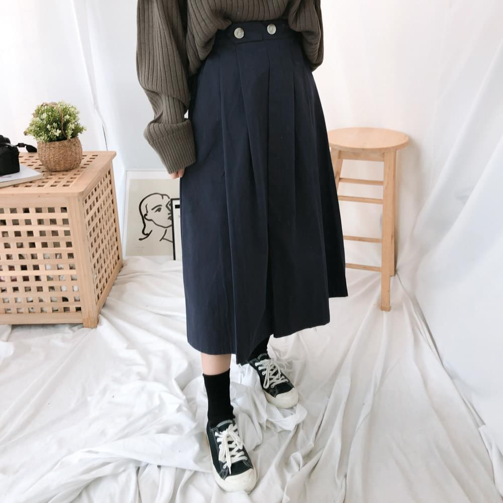 9818 Tulip Pintuck Long Skirt