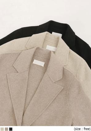 Notch Lapel Tie-Waist Short Coat
