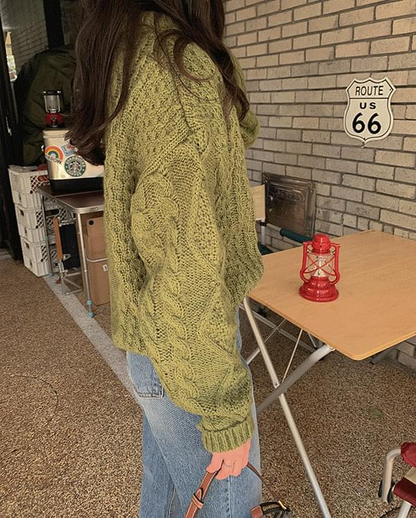 #Any place Terry Cable Round Knit