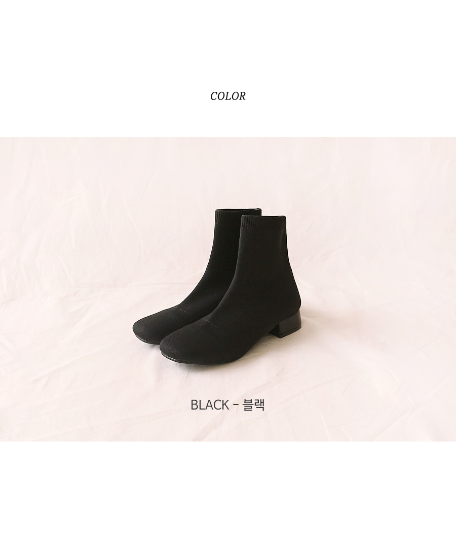FAVE KNIT SOCKS ANKLE BOOTS