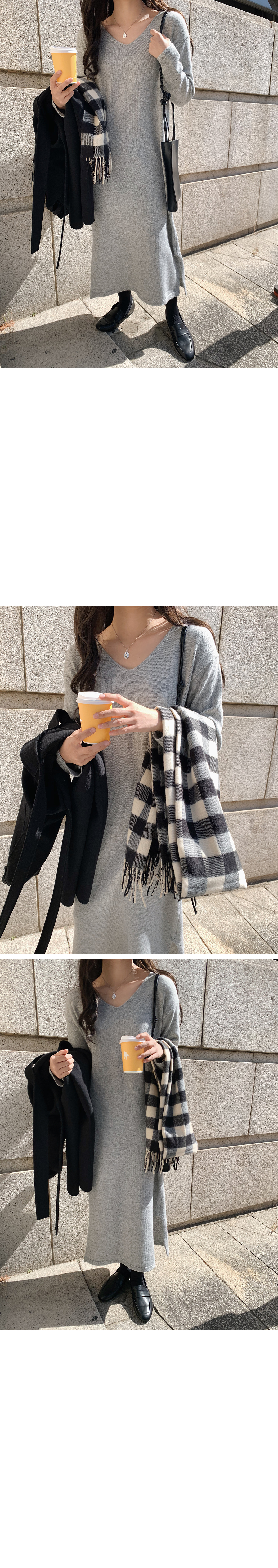 Gingham check scarf shawl
