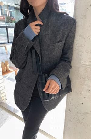 Maltese Herringbone Half Wool Jacket 夾克外套