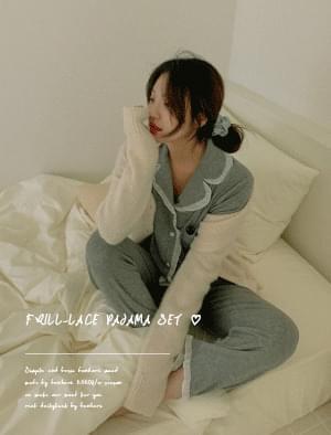 Angel Frill Lace Pajama Set