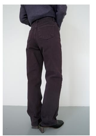 dark purple cotton pants