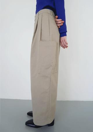 front wrap cotton pants