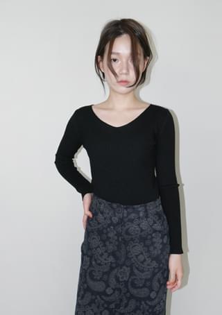daily slim golgi knit top