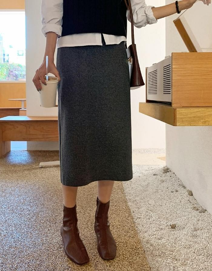 Marni wool banding long skirt