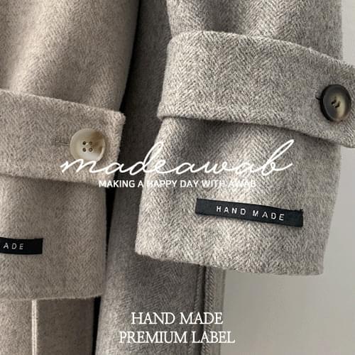 #MADEAWAB:_ 5 handmade coats for you_wool 90%, herringbone fabric