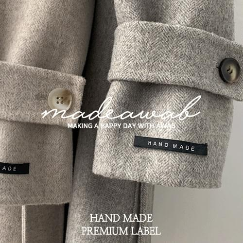 #MADEAWAB:_ 5 handmade coats for you_wool 90%, herringbone fabric
