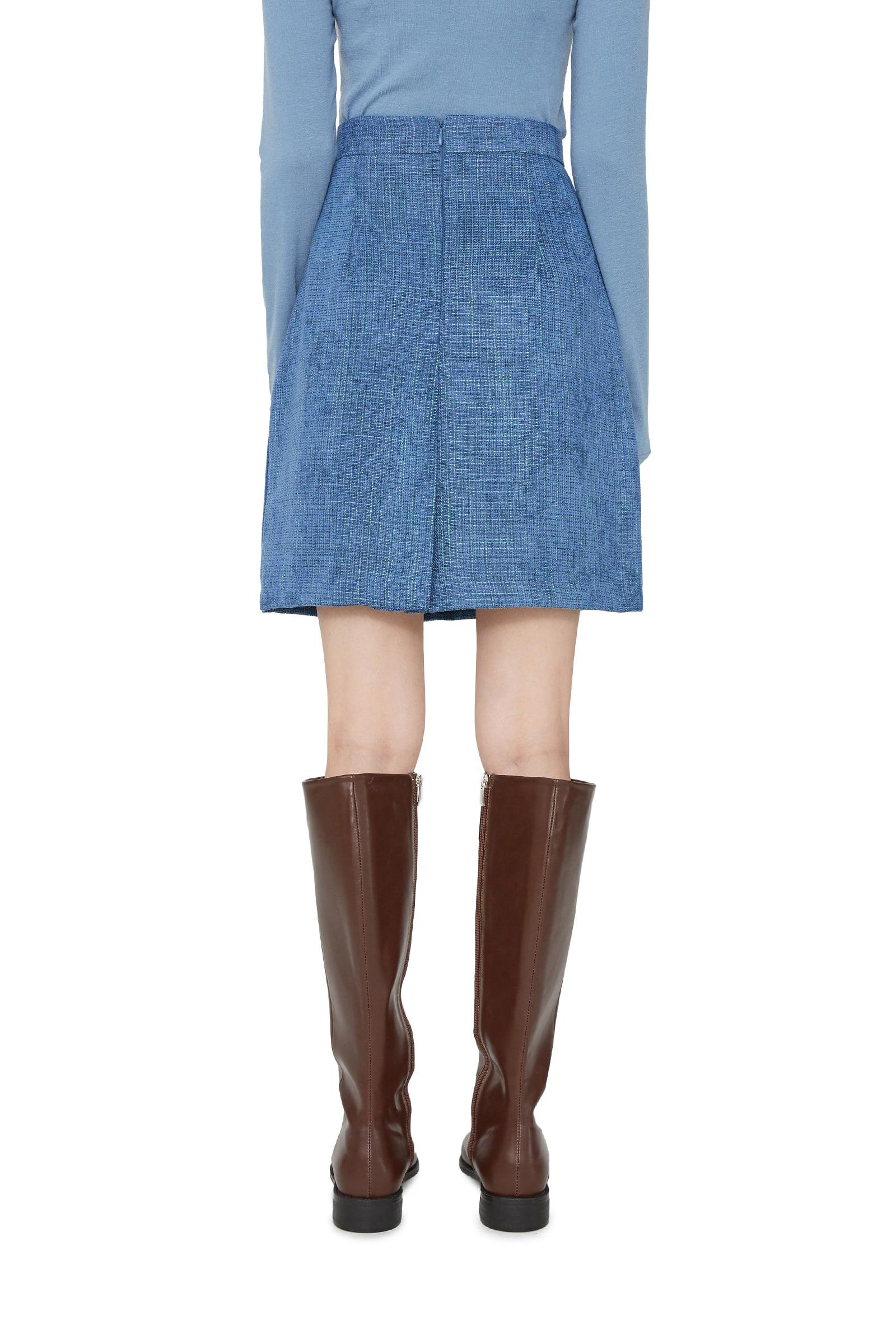 Ella tweed midi skirt