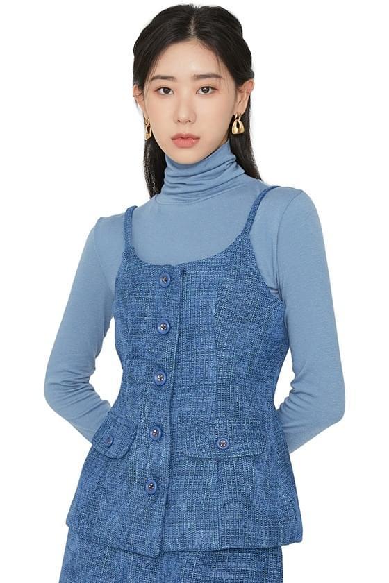 Ella tweed sleeveless vest