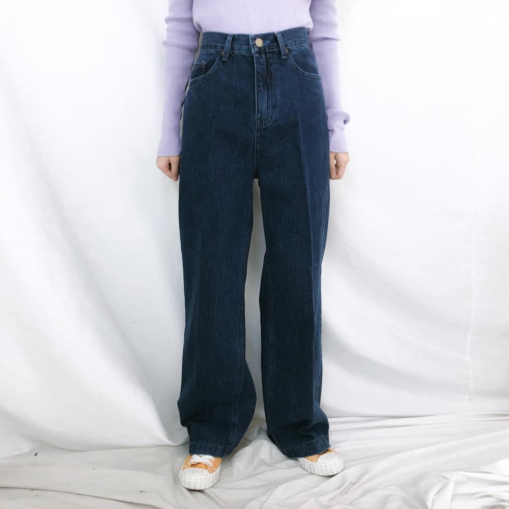 韓國空運 - 512 high dark thong denim pants 牛仔褲