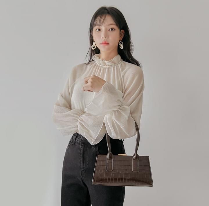 RASIAN FRILL SEETHROUGH BLOUSE (Delayed delivery)