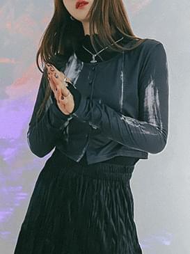 Tie-dye geler crop cardigan 開襟衫