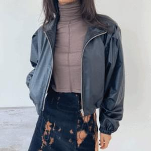 Leather string crop jumper