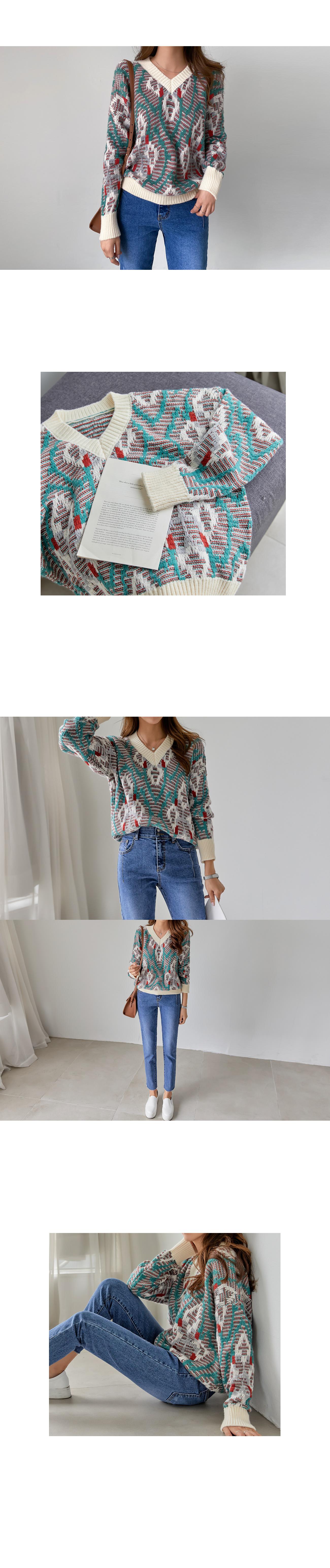 Ethnic Low Gauge Knit #108494