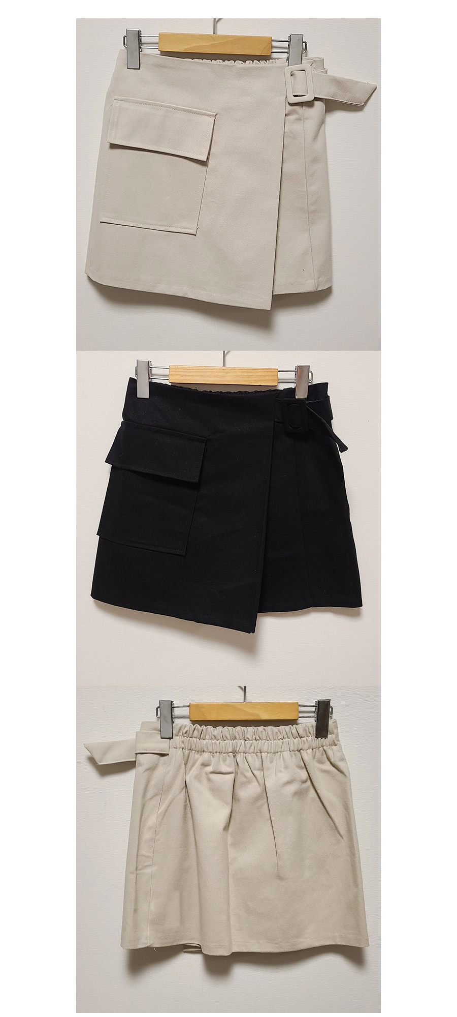 Gran belted pocket skirt