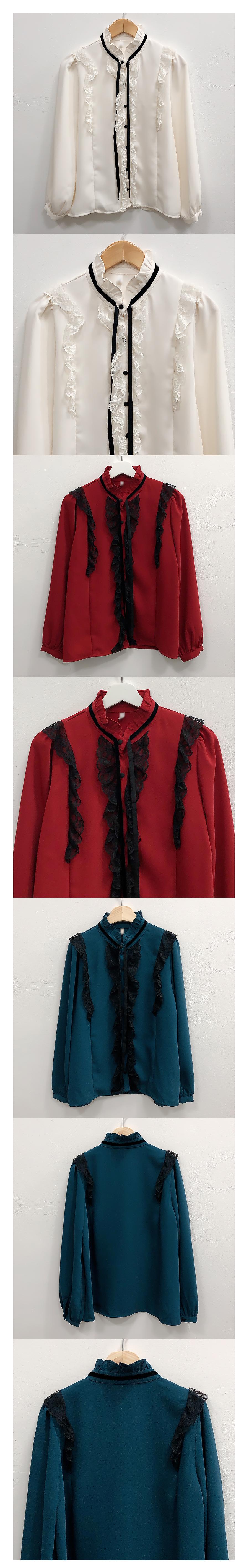 Muse lace velvet strap blouse