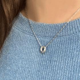 Vine ring necklace