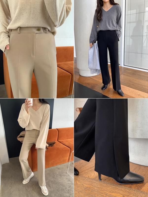 GENTLE active SLACKS/ver.F/W legging slit straight