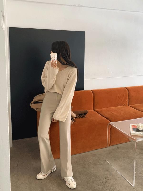 MMMM/ Cashmere Wool Loose Fit Knit