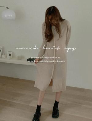 Like String V Neck Knit Dress ワンピース