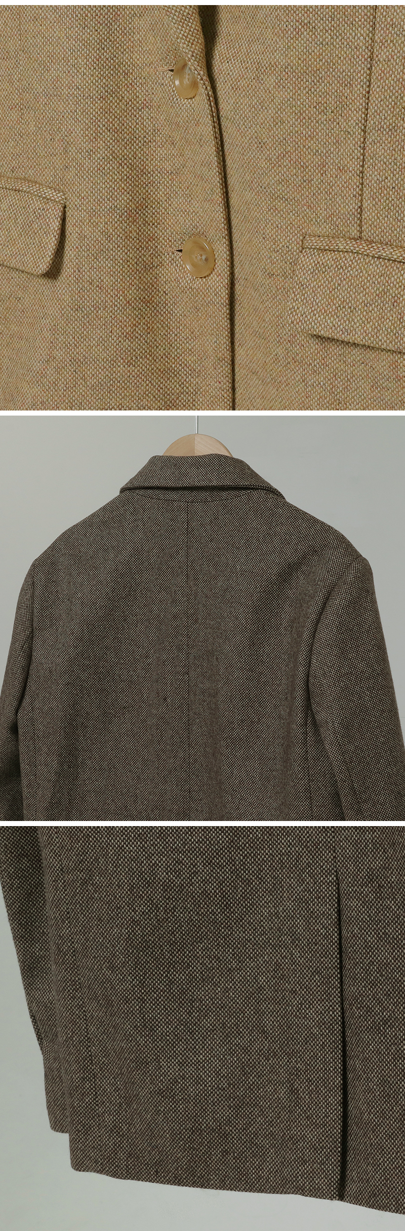 Ordinary Single Wool Jacket