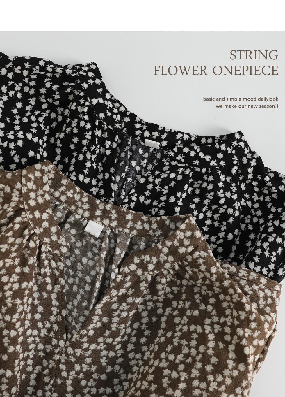 Ropple Fine Flower String One Piece