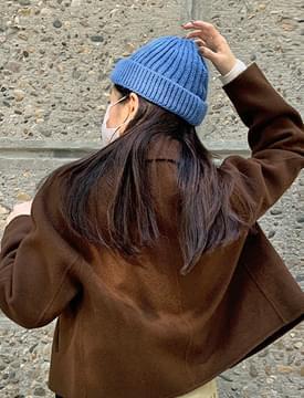 Crayon Ribbed Short Beanie Hat