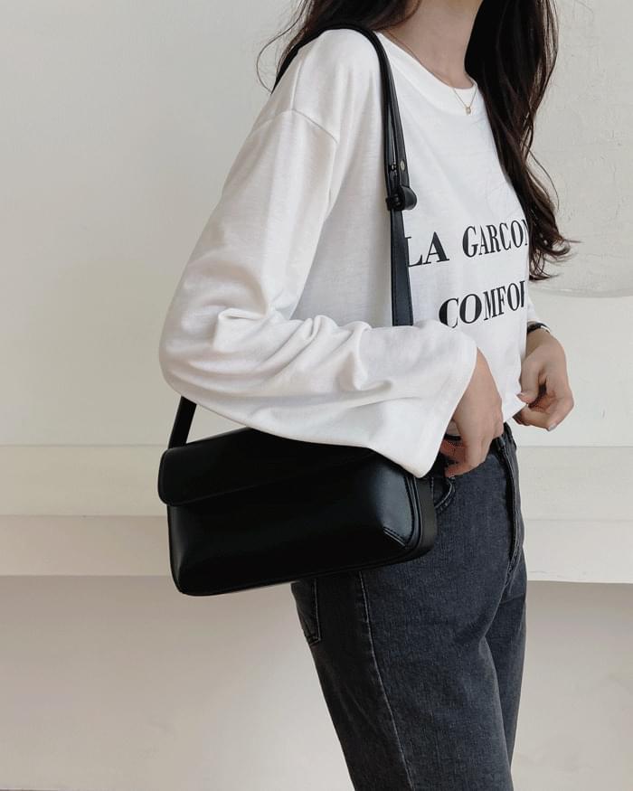 La Garson printed long-sleeved T-shirt