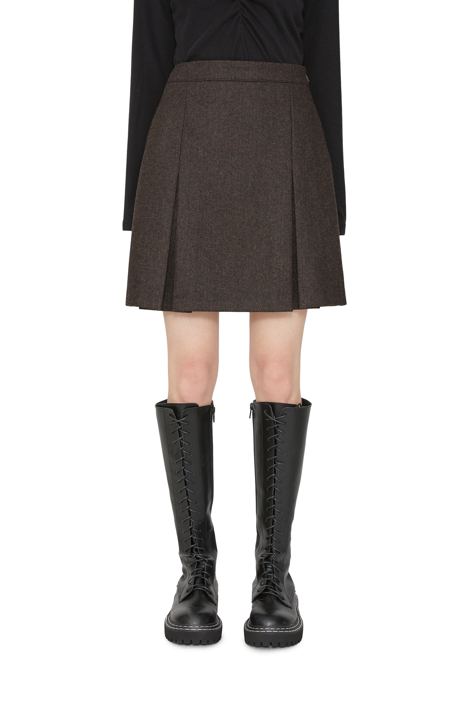 Berlin wool mini skirt