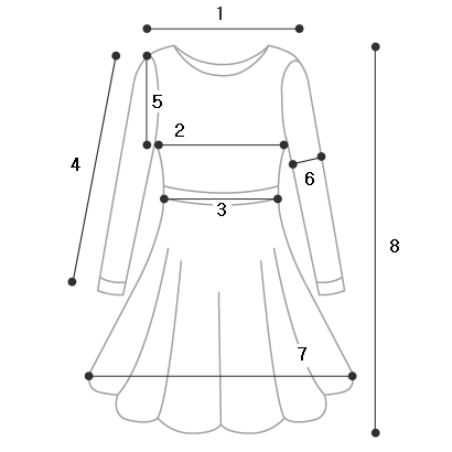Collar point dress
