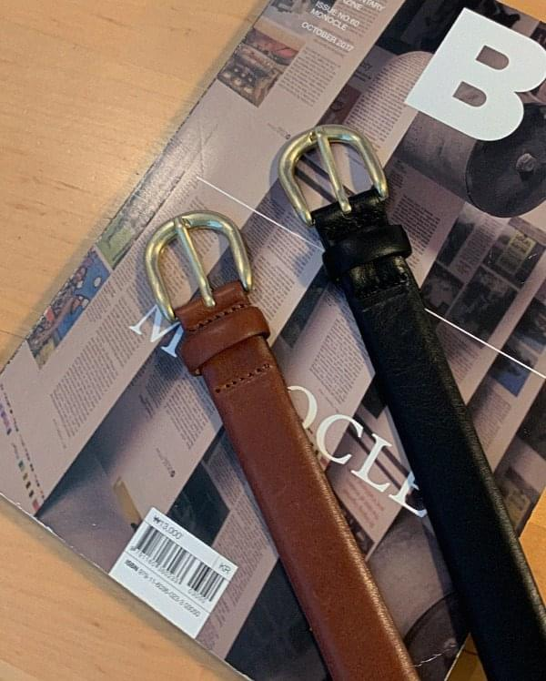Burdine leather buckle belt
