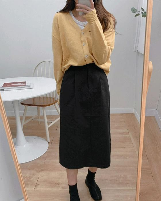 Daily pintuck skirt-4color