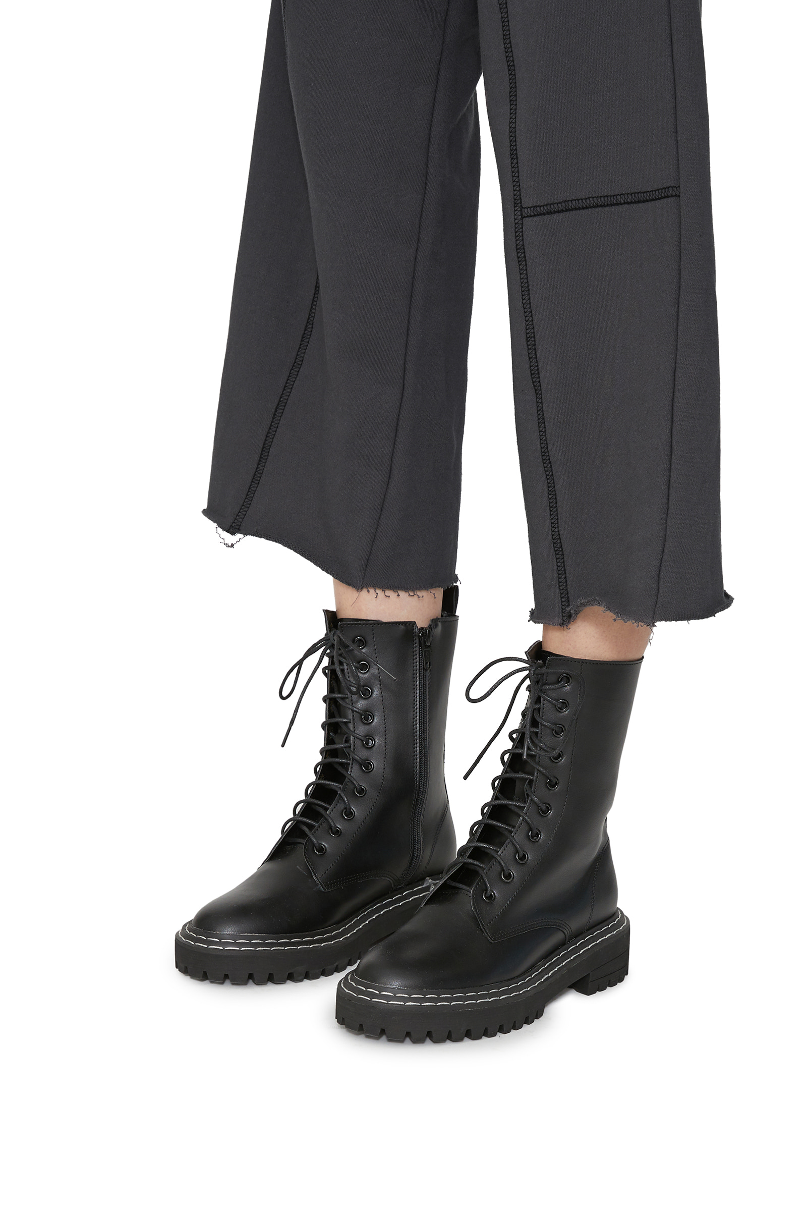 Prince lace-up walker boots