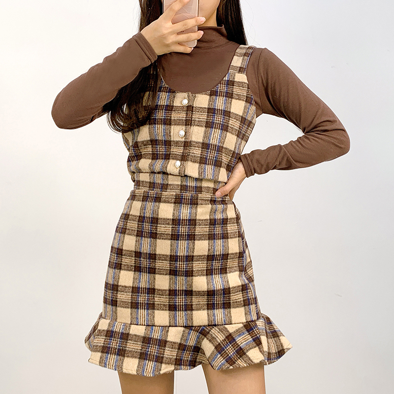 Camellia Check Two Piece