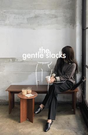 GENTLE classic SLACKS/ver. Button Pin Tuck Wide 長褲