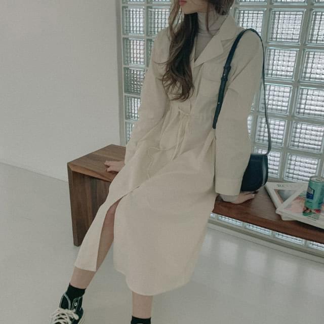 Bonita V-Neck Shirt Long One Piece 洋裝