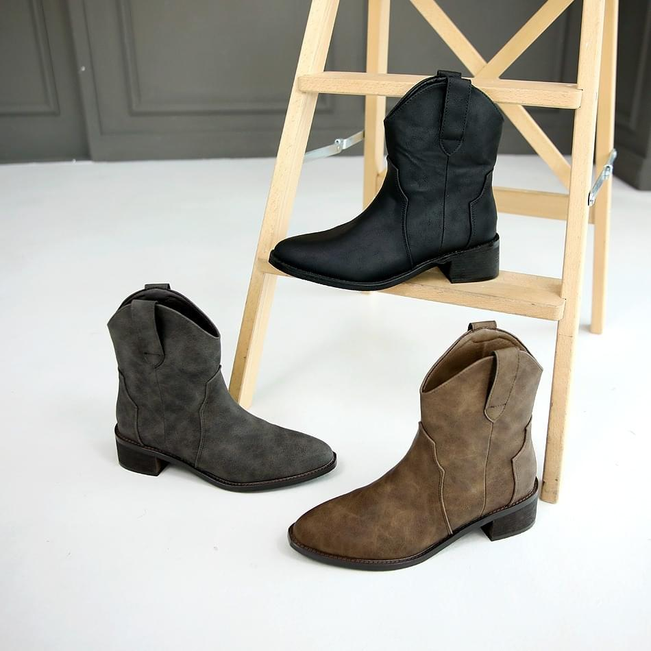 Bisea Western Ankle Boots 4cm 靴子