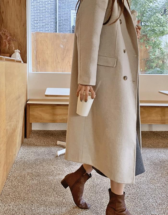 Perry Handmade Wool Double Long Coat