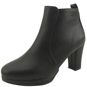 Simple heel high heel ankle boots 7cm