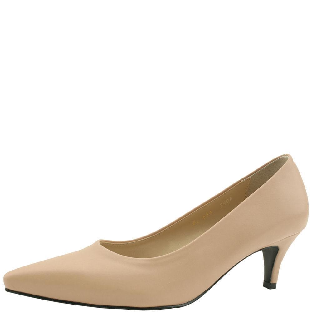 Basic Stiletto Middle Heel 6cm Beige