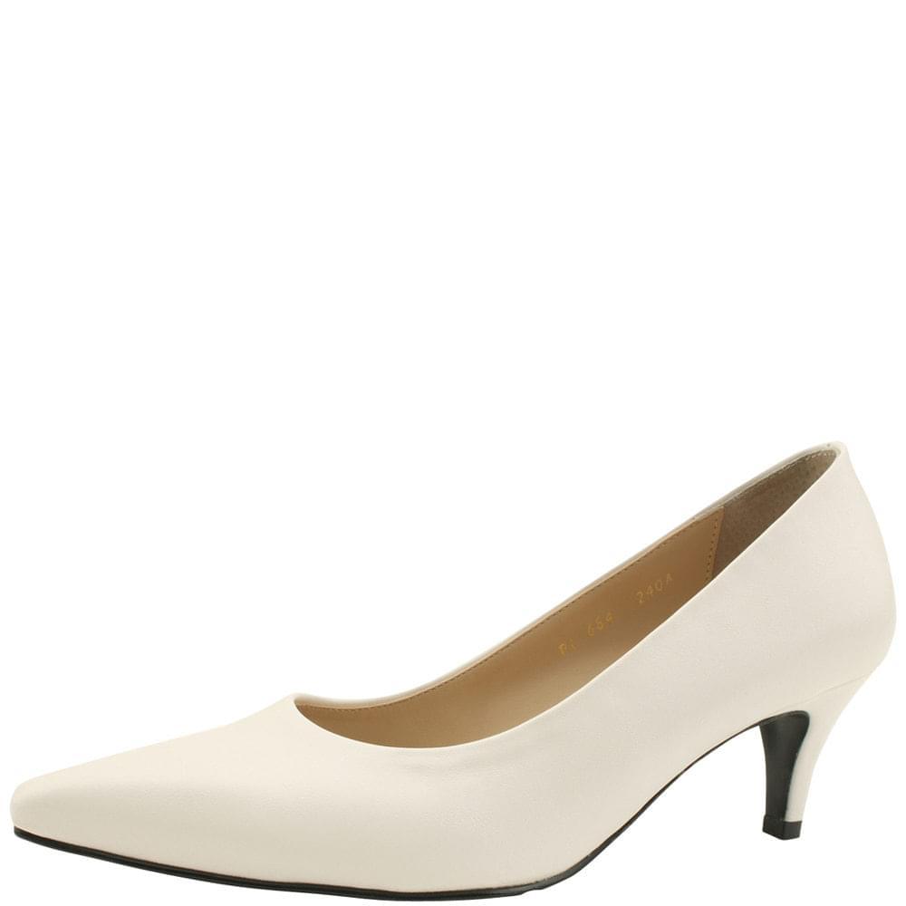 Basic Stiletto Middle Heel 6cm White