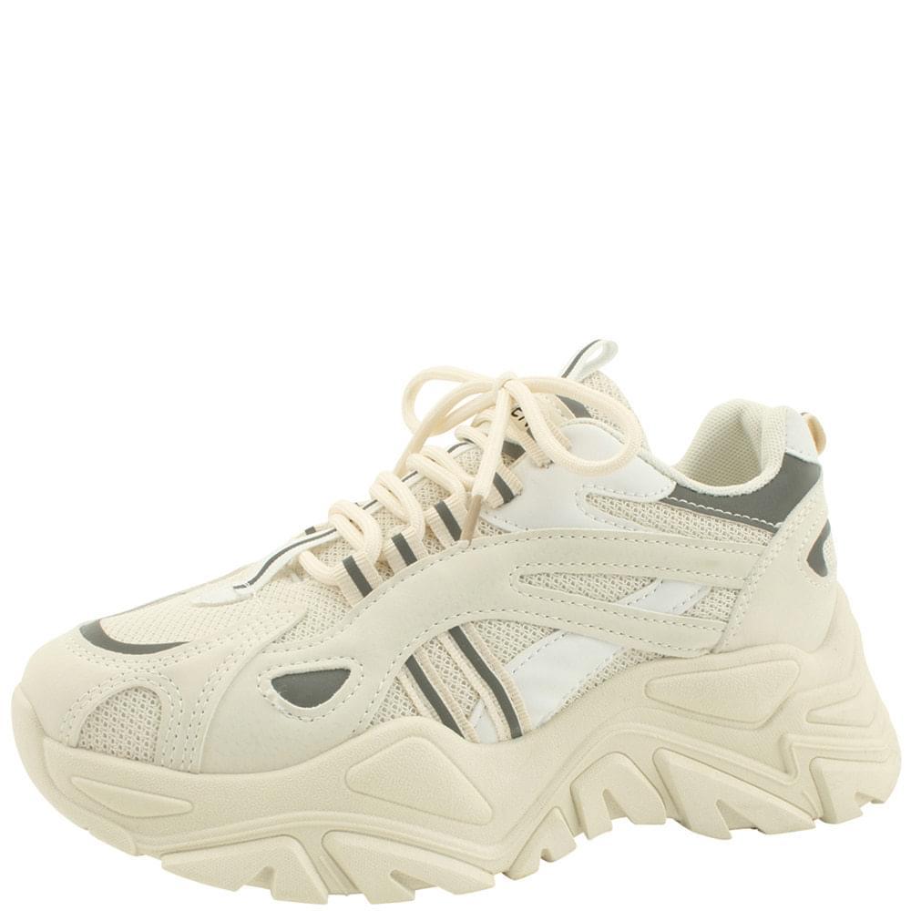 Platform Ugly Shoes Sneakers 6cm Beige