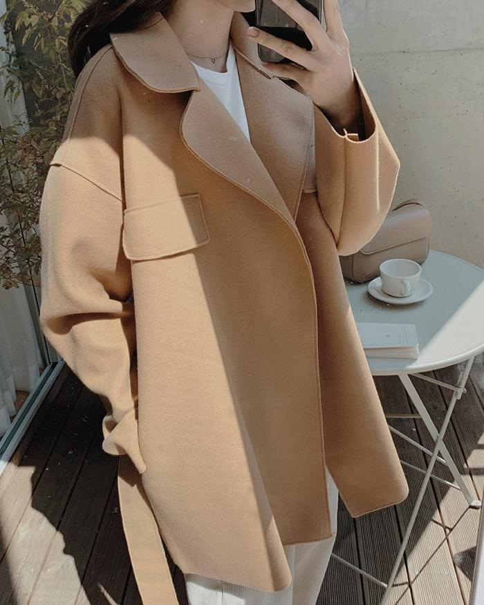 Meralline Autumn Basic Midi Coat