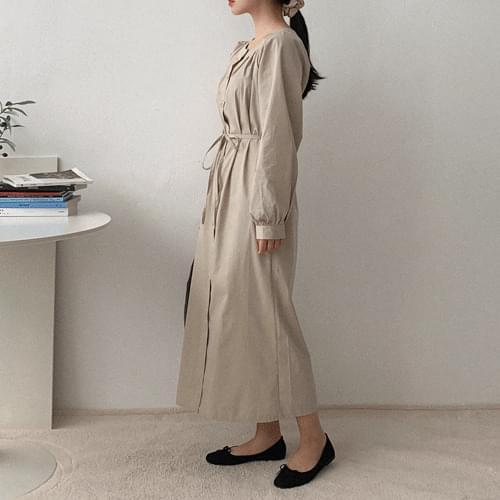 Cropped Pin Tuck Dress