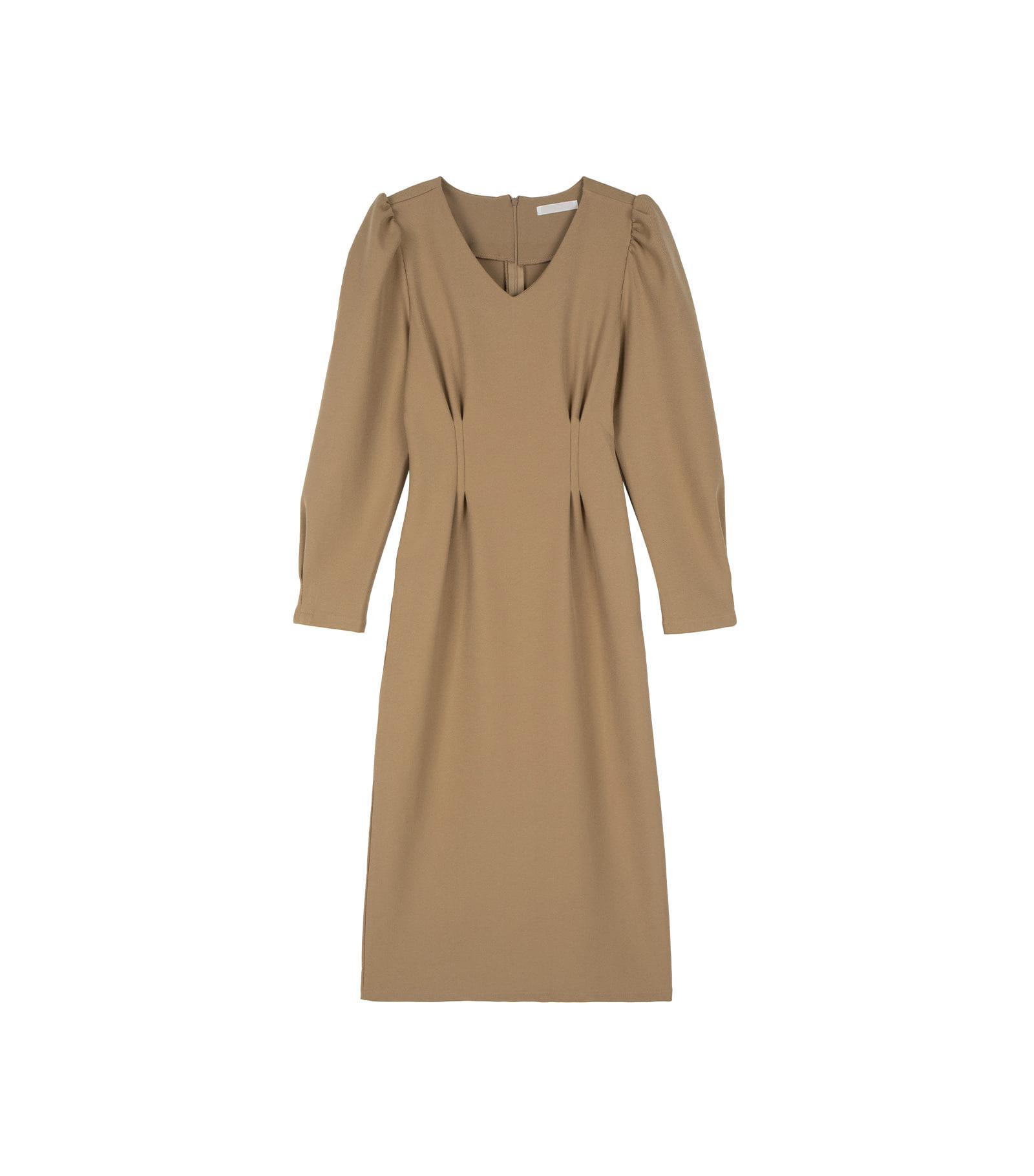 Clean puff maxi dress