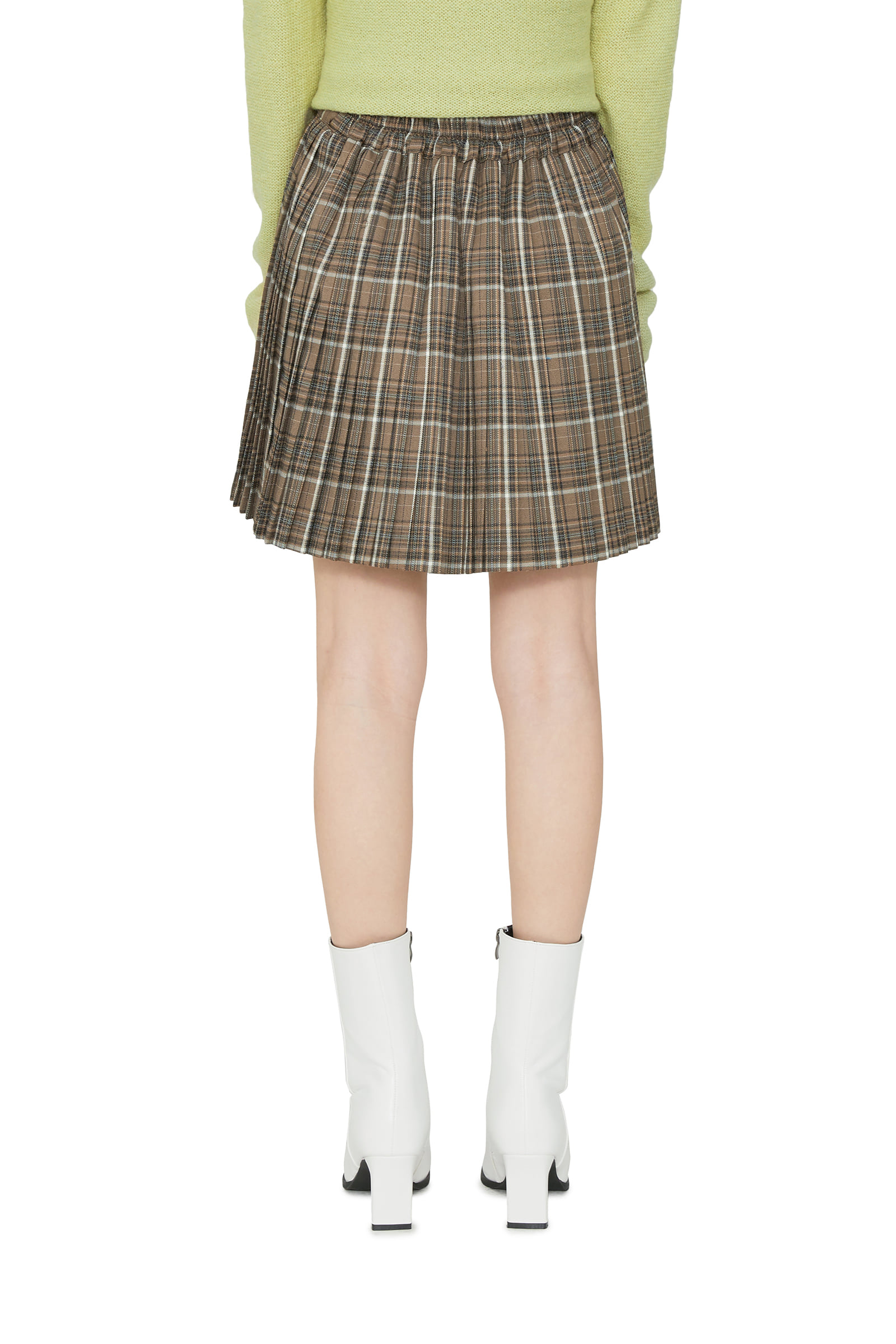 Sophia pleated check mini skirt