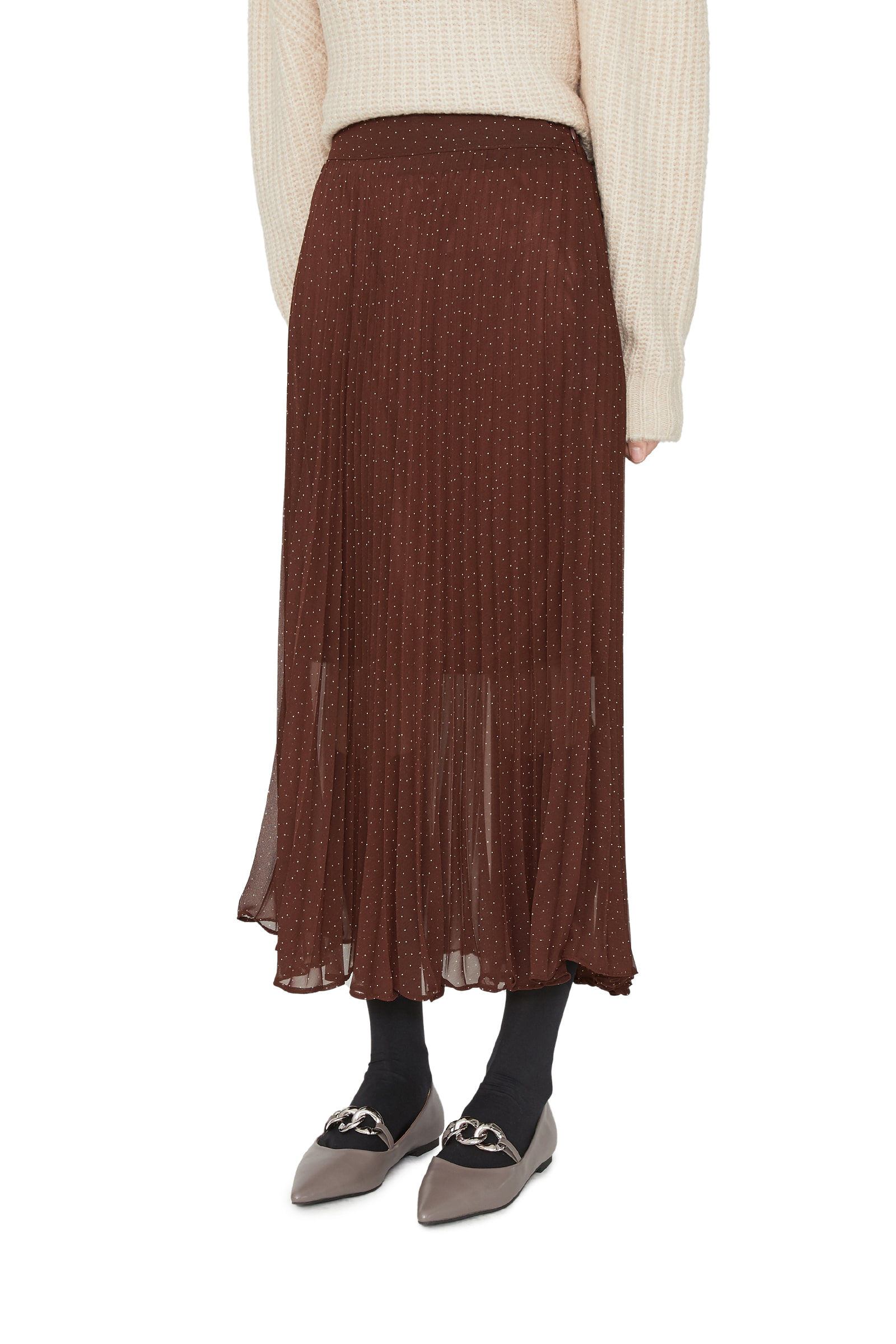 EVEN pleated maxi skirt